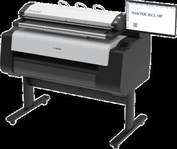 Máy scan A0 kết nối máy in A0 Canon, Model WT36CL600MF1